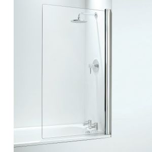 Coram 800mm Square Bathscreen - Chrome
