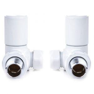Reina Crova Corner White 15mm Valves - Pair