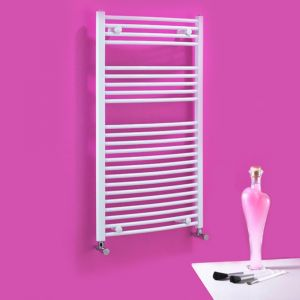 Dolomite White Curved Towel Rail W500mm H800mm