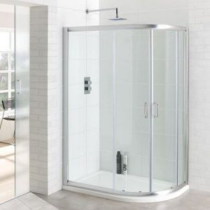 Eastbrook Vantage Double Door Offset Quadrant Shower Enclosure 1000mm x 760mm