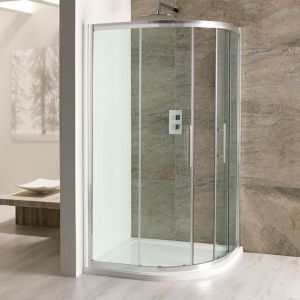 Eastbrook Volente Double Door Offset Quadrant Shower Enclosure 1100mm x 760mm