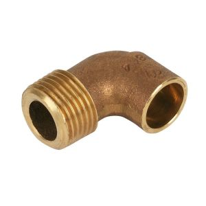 End Feed Male Iron Elbow 28mm x 1
