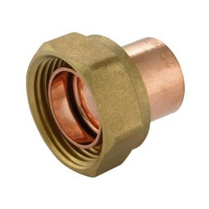 End Feed Straight Cylinder Adaptor 22mm x 1