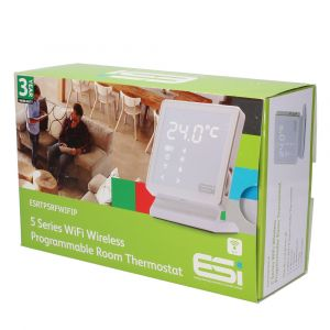 ESi ESRTP5RFWIFIP 7 Day Wireless Programmable Room Thermostat with Stand