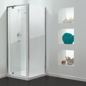 GB 3 Sided Shower Enclosure - 700mm Pivot Door and 700mm Side Panels