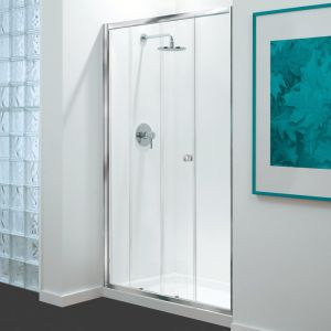 GB 3 Sided Shower Enclosure - 1000mm Sliding Door and 700mm Side Panels