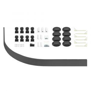 Kartell K-Vit Graphite Easy Plumb Kit for Quadrant Tray