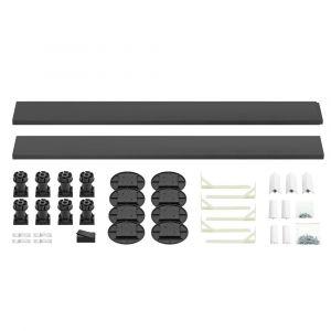 Kartell K-Vit Graphite Easy Plumb Kit for Square/Rectangle Trays up to 1200mm