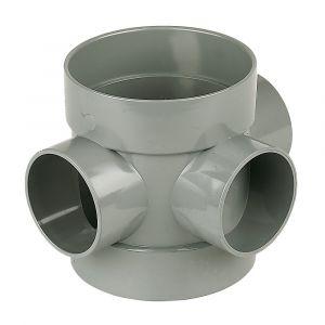 Grey 110mm Pushfit Soil Short Boss Pipe