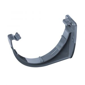Grey 112mm Half Round Fascia Bracket