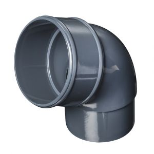 Grey 68mm Round Rain Water 112 Degree Offset Bend