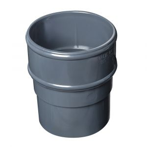 Grey 68mm Round Rain Water Pipe Connector