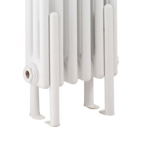 Hudson Reed Colosseum Floor Mounting Legs - High Gloss White-HX300