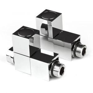 Inta Square Straight Chrome Radiator Valves