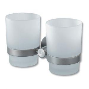 Kosmos Chrome Double Glass Holder