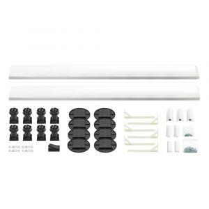 Kartell K-Vit White Easy Plumb Kit for Square/Rectangle Trays up to 1200mm