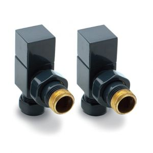 Reina Loge Angled Anthracite 15mm Valves - Pair