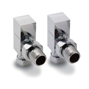 Reina Loge Angled Chrome 15mm Valves - Pair