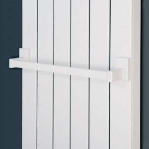 Eucotherm White Magnetic Towel Rail 440mm