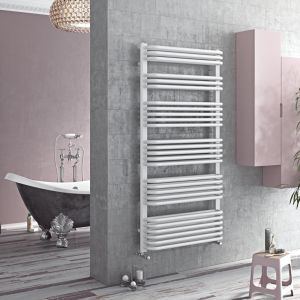 Eucotherm White Magnus Towel Radiator 870mm x 532mm