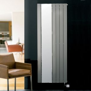 Eucotherm White Mars Mirror Electro Radiator 1800mm x 520mm