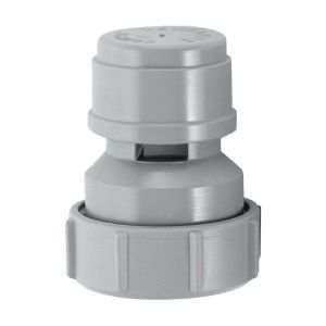 McAlpine VP15M Grey Air Admittance Valve 32mm