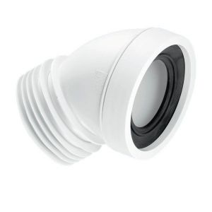 McAlpine WC-CON16 110mm 45deg Angle Rigid WC Connector