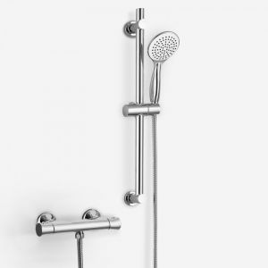 Medena Thermostatic Bar Shower Valve with Sliding Rail Kit