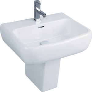 RAK Metropolitan 42cm Basin 1 Tap Hole And Semi Pedestal