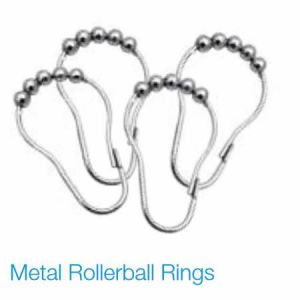 12 Pack Metal Rollerball Curtain Rings