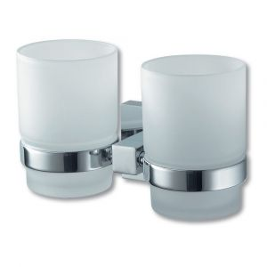 Mezzo Chrome Double Glass Holder