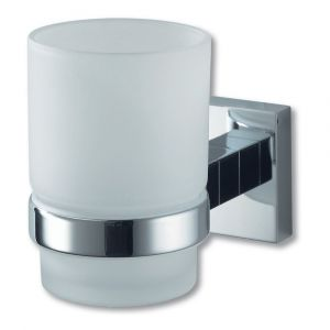 Mezzo Chrome Single Glass Holder