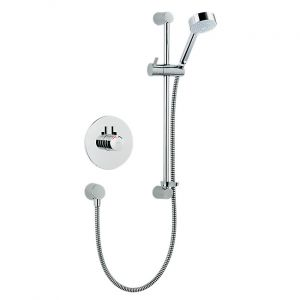 Mira Miniduo Dual Control Built In Shower and Riser Rail Kit - All Chrome
