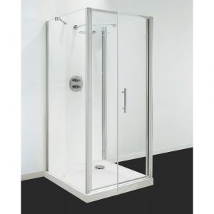 Optima 3 Sided Shower Enclosure - 760mm Pivot Door and 900mm Side Panels