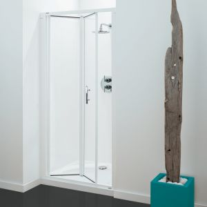Optima Bi-Fold Door White - Clear Glass - 760mm