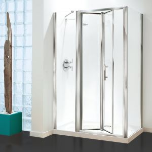 Optima Inline Panel Pack Chrome - Clear Glass - 1400mm