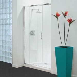 Optima 3 Sided Shower Enclosure - 1000mm Sliding Door and 700mm Side Panels