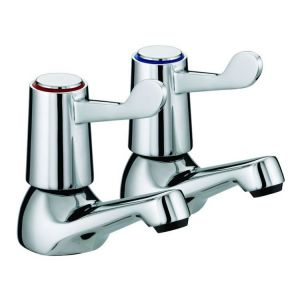 Pair Roma Lever Bath Taps