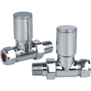Reina Portland Straight Chrome 15mm Valves - Pair