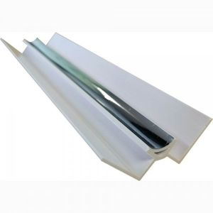 Silver 2400mm  PVC  internal Corner