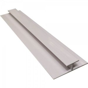 White 2400mm  PVC  H Jointing Strip