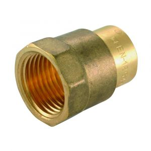 Solder Ring Female Iron Coupler 22mm x 3/4