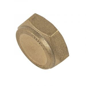 Brass Compression Blank Cap Nut 3/4