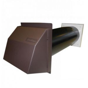 Stadium BM418 Anti Draught Black Hole Core Drill Vent with a Brown Cowl