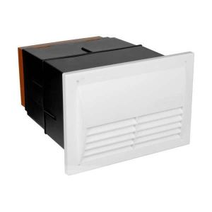 Stadium BM720 Anti Draught Black Hole Vent with a White Grille
