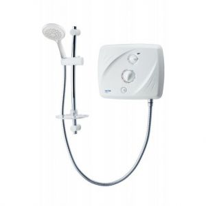 Triton T90xr Pumped Electric Shower 9.5kw White and Chrome