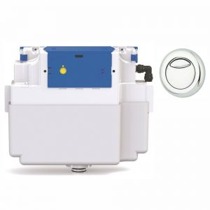 Vantage Dual Flush Concealed Cistern - 51mm Dio Button