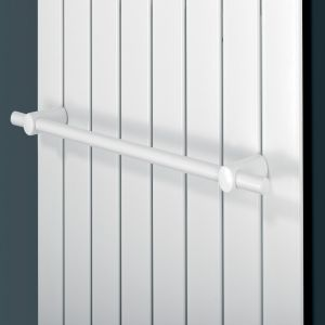 Eucotherm White Mars Towel Rail 445mm