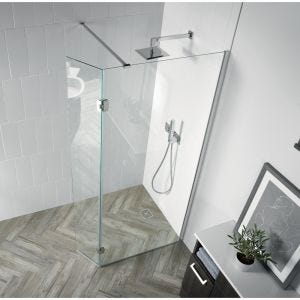 Aquadart Walk-In Wetroom 8 Shower Panel with Return 1200mm
