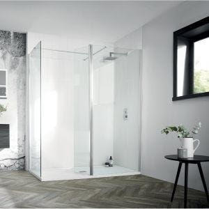 Aquadart Walk-In Wetroom 8 Flipper Panel 300mm